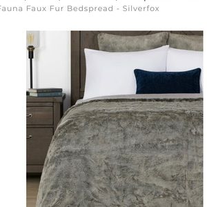 Wild sanctuary King Urban Barn Faux fox bedcover